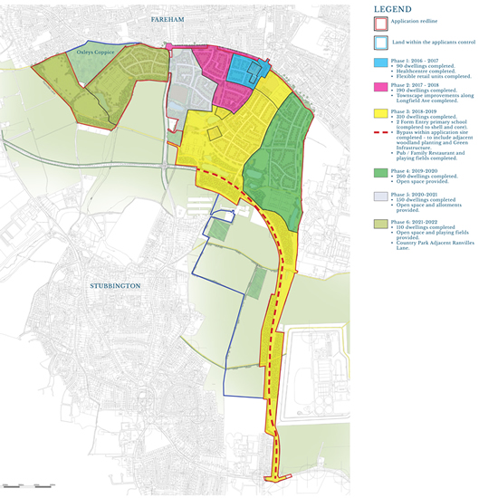 Fareham Planning Application - Phasing - click for larger image